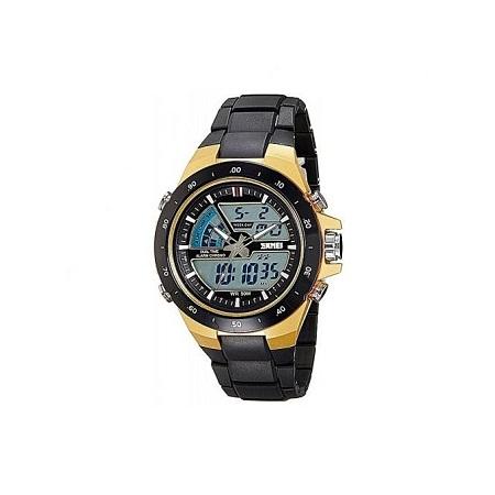 Skmei New Sports Water Resistant Dual Display Watch 1016 - Black