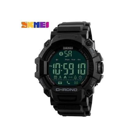 Skmei Waterproof Sports Calorie Bluetooth Watch 1249 - Black