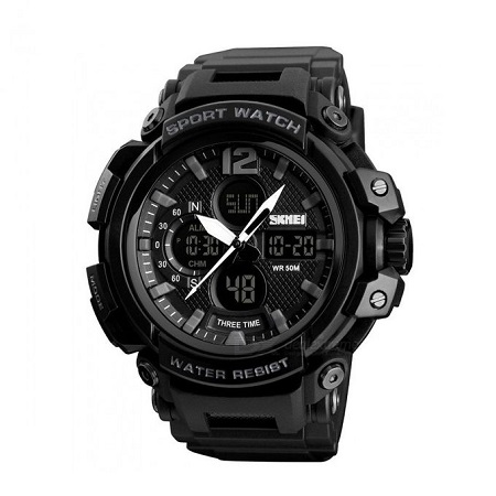 Skmei New Waterproof Digital Sports Watch 1343 - Black