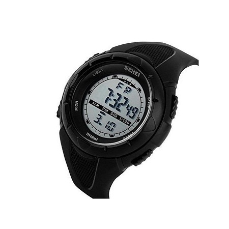 Skmei LED Sports Army Water Resistant Outdoor Watch 1025 - Black