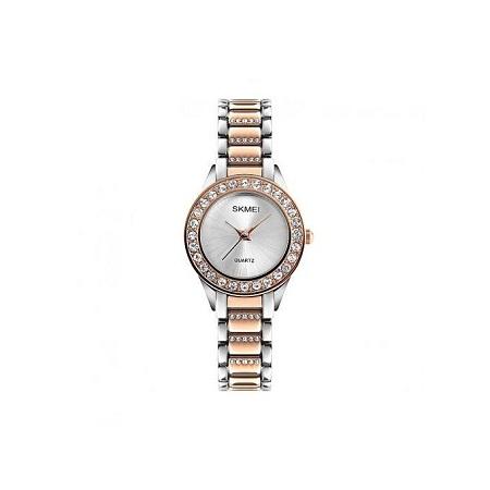 Skmei Women Stainless Steel Fashion Luxury Watch 1262 - Rose Gold