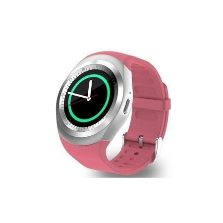 Y10 Sporty Smart Phone SIM Touchscreen Watch - Pink