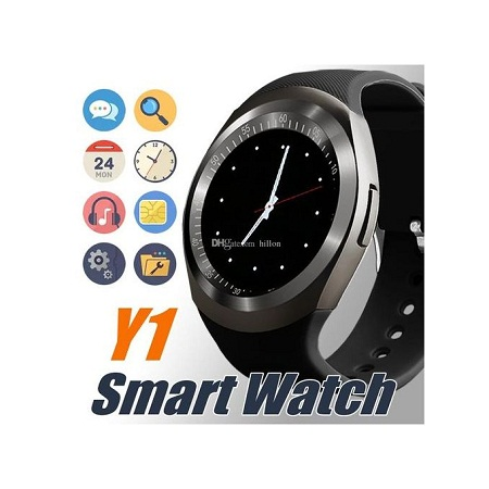 Y1 2019 Sporty Smart Watch-Sim toolkit-water proof Watch-black