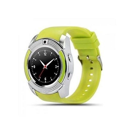V80 Touch Screen Sports Round Screen Smart Phone Watch - Green