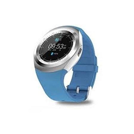 Y10 Sporty Smart Phone SIM Touchscreen Watch - Blue