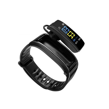 Y3 Plus Smart Bracelet with Bluetooth 4.1 Headset - Black