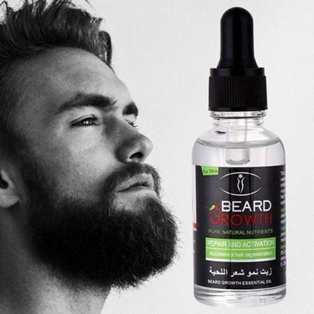 Beard Growth & Moustache Fast Growth Oil clear clear