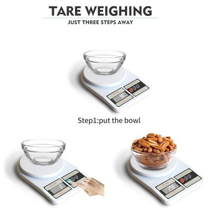 Electronic Digital Weighing Food Kitchen Scale white normal