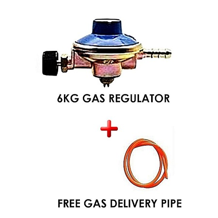Gas Regulator Plus Gas Delivery Pipe (for 6Kg Gas Cylinder) orange normal