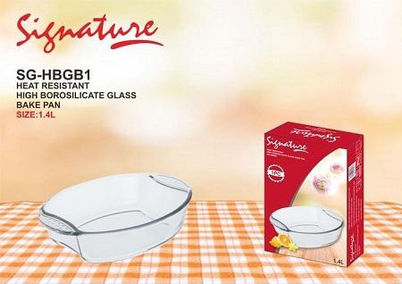Signature Heat-resistant Glass Bake Pan crystal 1pc