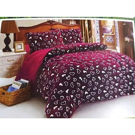 woolen Duvet Set and 2 pillow cases Red 5*6