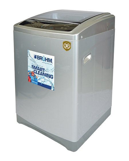 Bruhm BWM TL150H, Fully Automatic Top Load Washing Machine, 15Kg - Silver