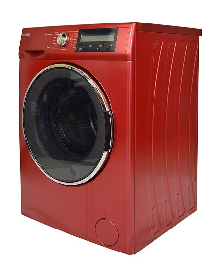 Bruhm BWM-FL100R - Fully Automatic 10 Kg Front Load Washing Machine - Red