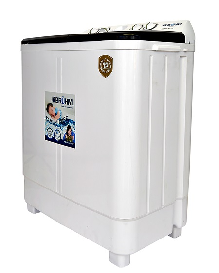 Bruhm BWM-TT70, Twin Tub Washing Machine - 7kg