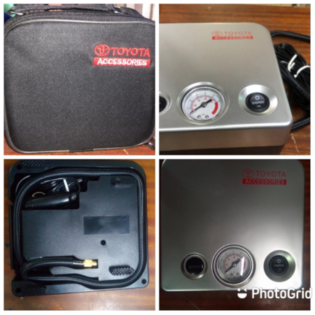 CAR TIRE INFLATOR WITH COMPRESSOR
