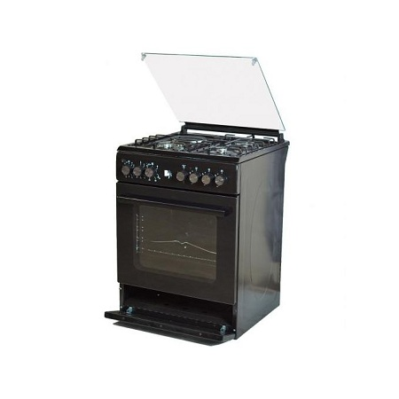 BJS I-6011T-Black 60X60 3-GAS+1 Hot Plate With Turbo-FAN