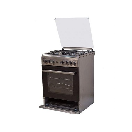 BJS I-6011T-INOX 60X60 3-GAS+1 Hot Plate With Turbo-FAN