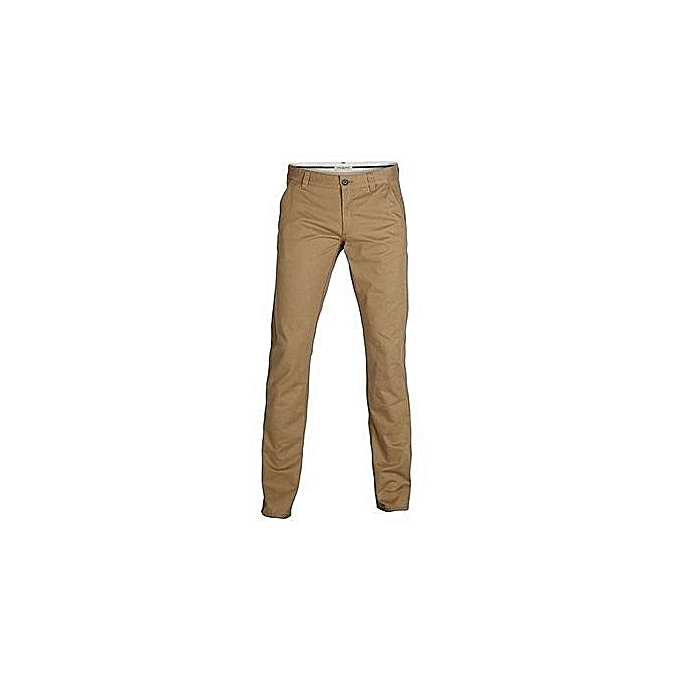 Beige High Quality All Weather Men's Soft Khaki Trousers