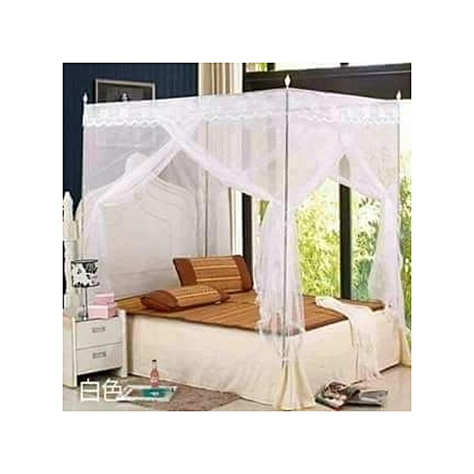 4 Stands Straight Mosquito Net - White