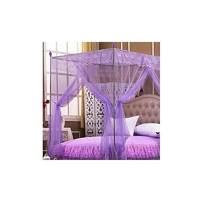 Mosquito Net with Metallic Stand-6X6-Purple