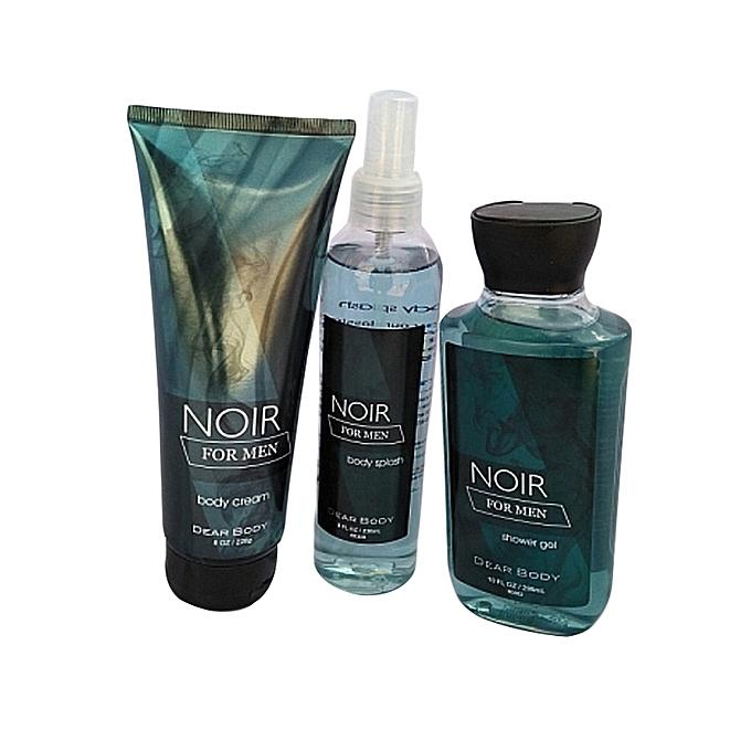 Dear Body Noir for men 3-in-1 set(Body Cream 226 g, Body Splash 236 ml and Shower Gel 295 ml)