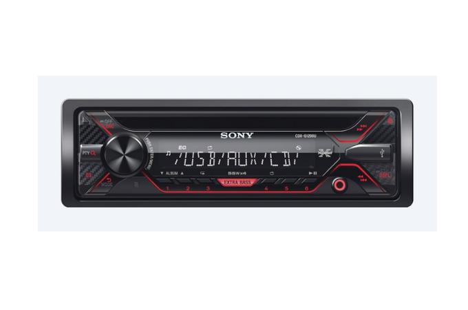 Sony CDXG1200U Single DIN Car Stereo CD Receiver.
