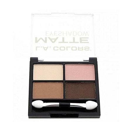 La Colour 4 Color Matte Eyeshadow - Mattifying