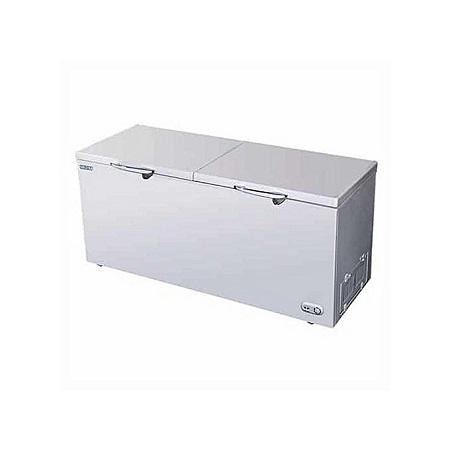 560L Double Door Chest Freezer, Glass door - White