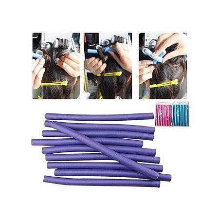 My Hair Obsession 10 Pieces flexi rods/curling rods ( size 2)