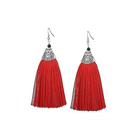 Generic Tassel Earrings - Red