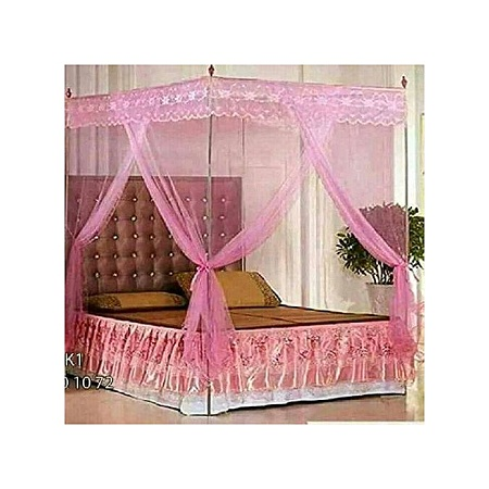 Net Mosquito Net with Metallic Stand -Pink