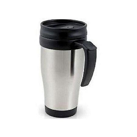 Generic Coffee/Tea Travel Mug Stainless Steel Vacuum Flask Silver and Black