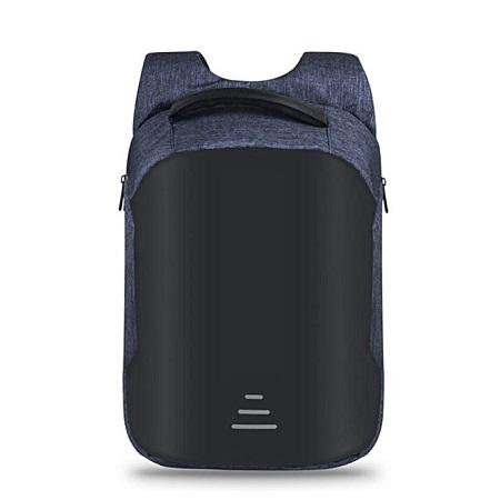 Anti-theft USB Charging Port Business Backpack -Blue black