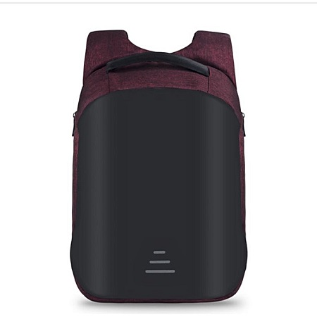 Anti-theft USB Charging Port Business Backpack -black maroon