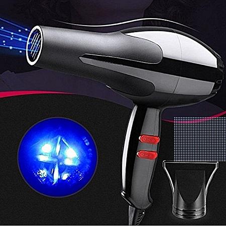 Professional Hair Blow Dryer Black Heat Speed Blower Dry Watt Pro-Black