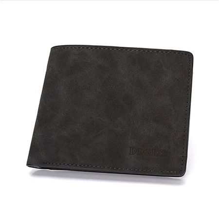 Bogesi Elegant Executive Men Leather Wallet -BLACK