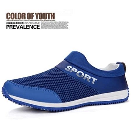 Fashion Men Hollow Woven Breathable Mesh Shoes
