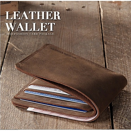 Cow Leather Hand Made Vintage  Men's Leather Wallet - Brown