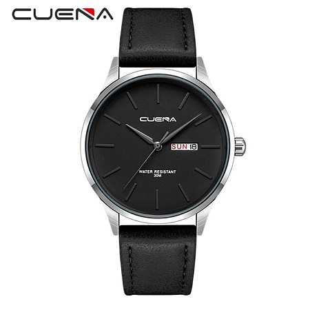CUENA Men's Quartz  Luxury Brand Waterproof Men's Watch-Black