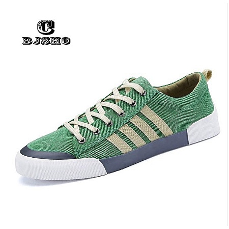 Casual Denim Canvas Shoes Breathable Sneakers (Green)