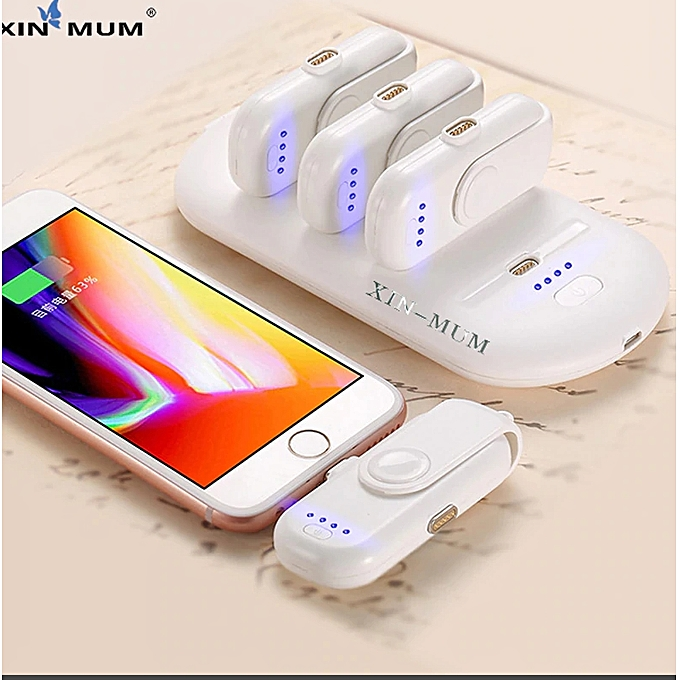 Finger Pad 5 Charge Packs Powerbank Charger Bank For iPhone Android Moblie Type C Phones