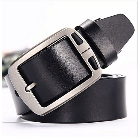 Mens Leather Vintage Classic Jean Pin Buckle Belt