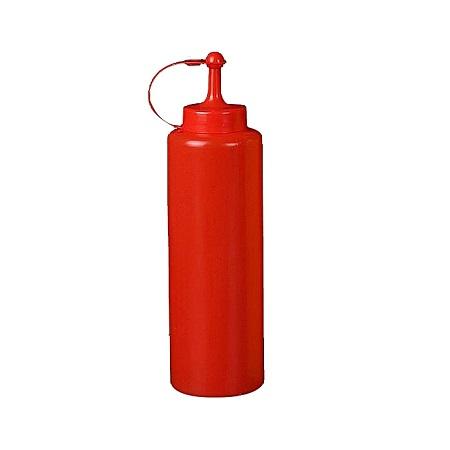 Plastic Squeeze Bottle Ketchup Mustard Sauce Vinegar Dispenser Red