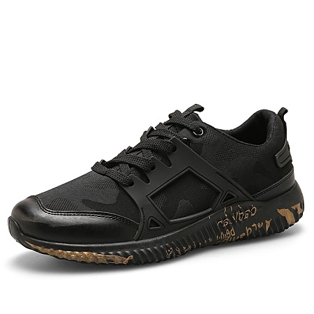 Korean Casual Sport Running Shoes - Black