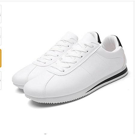 Leather Casual  Krasovki Flat Heel Sneakers white