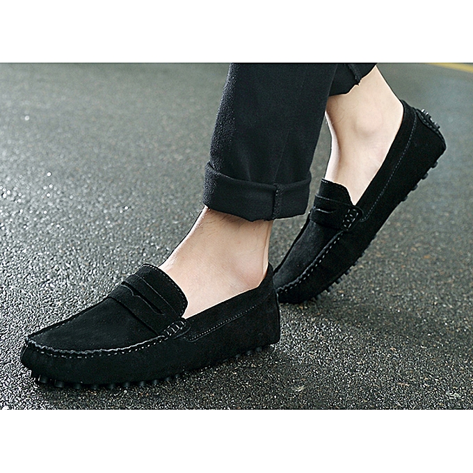 Men's Casual Leather Loafers -Black