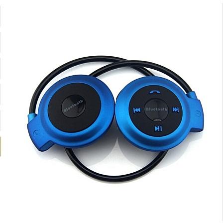 Mini 503 Mini503 Bluetooth 4.0 FM Sport Headset Wireless Headphones Music Stereo Headphones-Blue