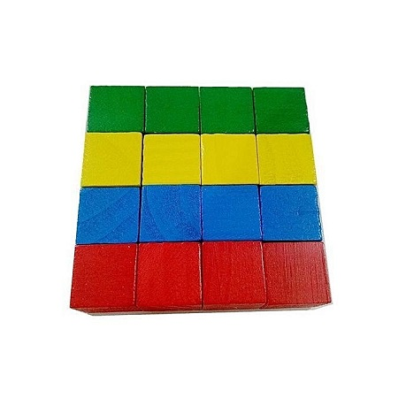 Candywood Montessori Colorful wood cube blocks Bright Assemblage block Early educational early learning toys for kids children