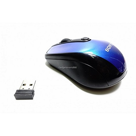 Wireless Mini Bluetooth Optical Mouse for Laptop-Blue