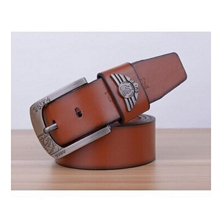 High Quality Fashion PU Leather Belt Metal Pin Buckle For Men leather belt brown 110cm